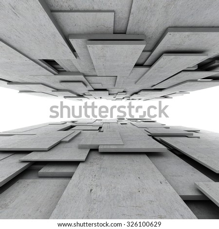 Abstract geometric background of concrete cubes