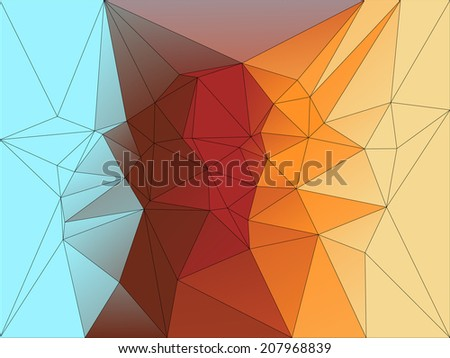 Abstract geometric background of triangular polygons
