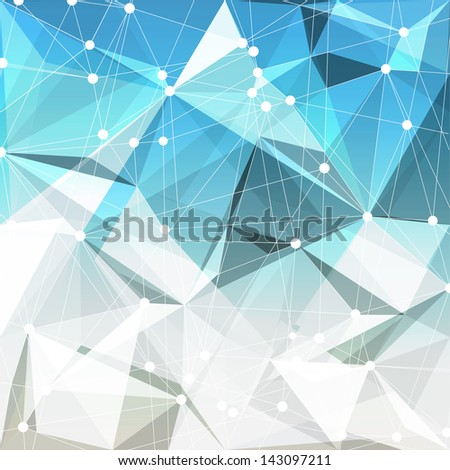 Abstract geometric background. Raster version, vector file available in portfolio. - stock photo