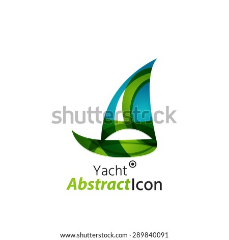 Abstract geometric business corporate emblem. Logo icon design for travel or any other idea - stock photo
