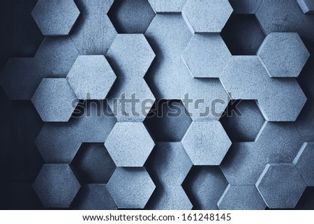 Abstract geometric concrete wall texture. - stock photo