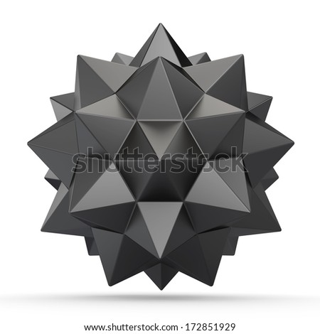 Abstract geometric 3d object: Polyhedron  - stock photo