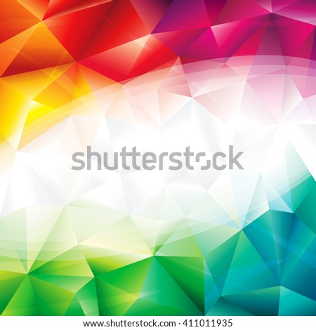 Abstract geometric green and red background. - stock photo