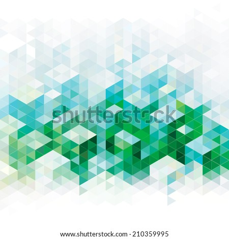 Abstract geometric green urban background. Raster. - stock photo
