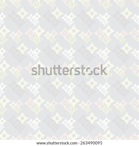 Abstract geometric light seamless pattern with stars and circles. Modern background texture  - stock photo