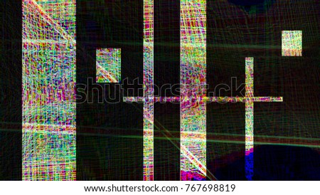 Abstract geometric line gradient pattern texture background illustration painting