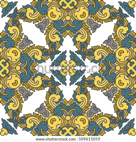 Abstract geometric mosaic vintage ethnic seamless pattern ornamental