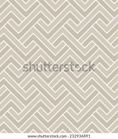 Abstract geometric pattern. A seamless  background. Beige and white texture. - stock photo