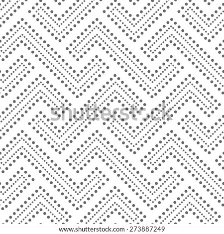 Abstract geometric pattern by the points. A seamless  background. Gray and white texture. - stock photo