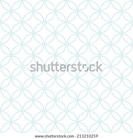 Abstract geometric pattern of the points. Blue and white texture. Seamless background.