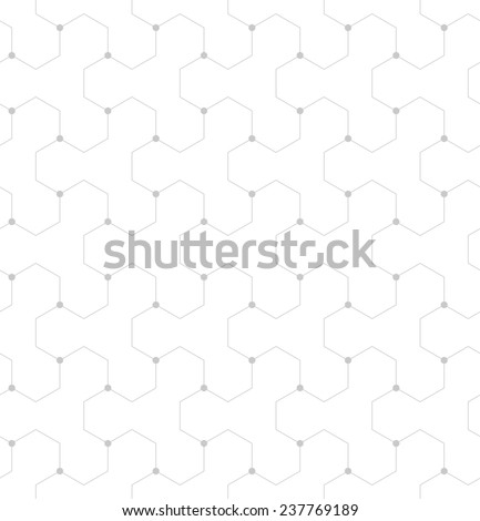 Abstract geometric pattern of the points,lines. A seamless background. Gray and white texture. - stock photo