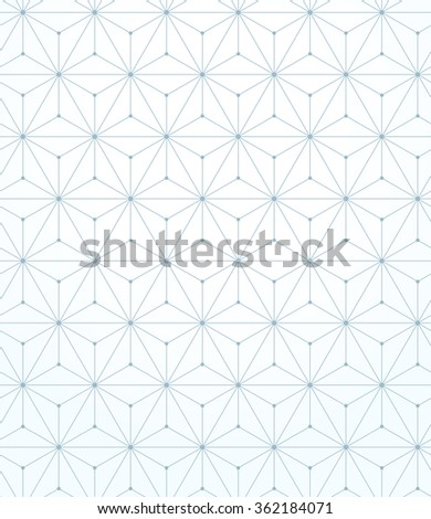 Abstract geometric pattern with lines, rhombuses. A seamless background. Blue and white texture - stock photo
