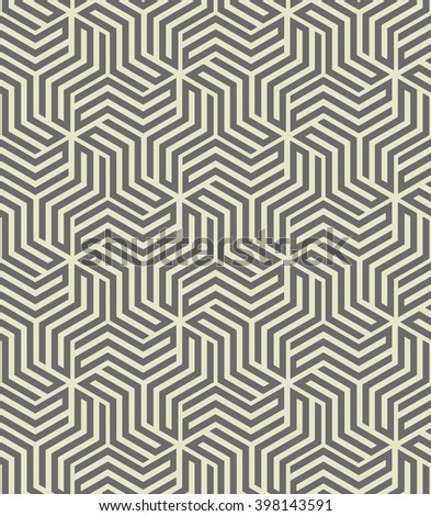 Abstract geometric pattern with stripes, lines. A seamless  background. - stock photo