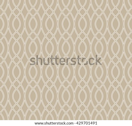 Abstract geometric pattern with wavy lines. A seamless background. - stock photo