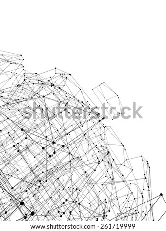Abstract geometric polygonal structure, 3d illustration - stock photo