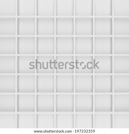 Abstract geometric shape from gray cubes - stock photo
