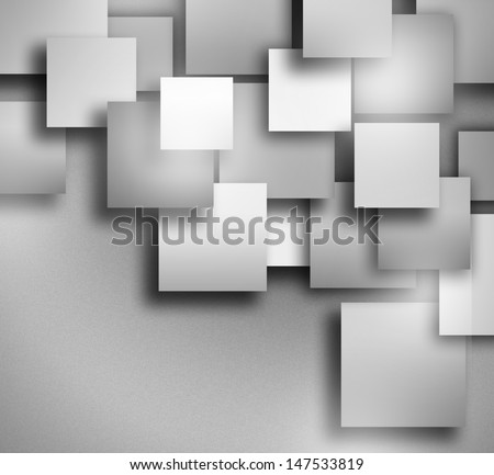Abstract geometric shape of grey square
