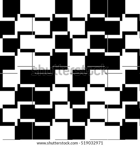 Abstract geometric square modern style design with line on white backdrop