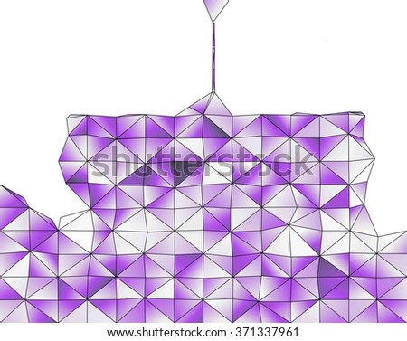 Abstract geometric structure of purple gradient triangular shapes - stock photo