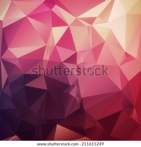 Abstract geometric triangle diamond background render - stock photo