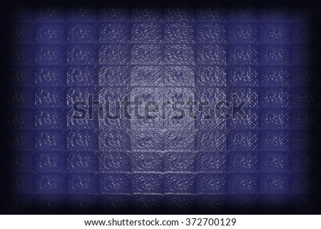 Abstract geometric triangles in a square blue background, illustration