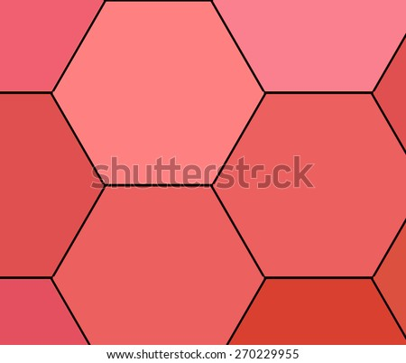 Abstract geometric triangles in a square bright red colorful backgrounds, illustration