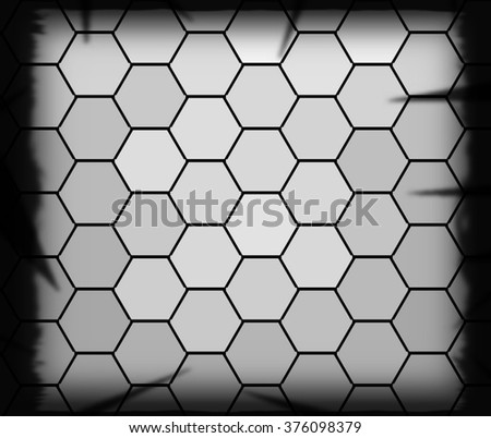 Abstract geometric triangles in a square gray background, illustration