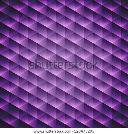 Abstract  geometric violet cubic background, vector illustration - stock photo