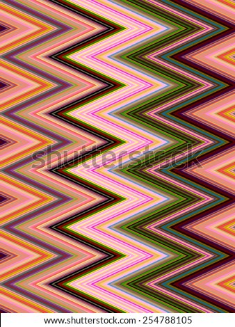 Abstract geometric zigzag pattern for decoration and background, with themes of alternation, repetition, and predictability - stock photo