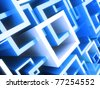 Abstract geometrical background with blue crossed frames - stock photo