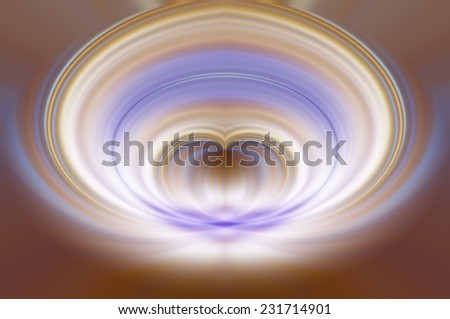 Abstract geometrical brown fractal background with lines and circles - stock photo