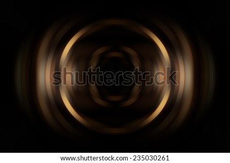 Abstract geometrical gold fractal - stock photo