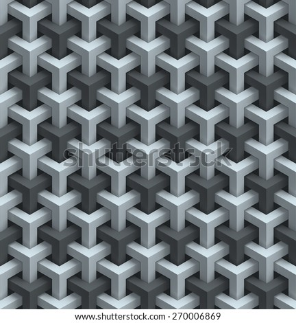 abstract geometrical seamless 3d background - stock photo
