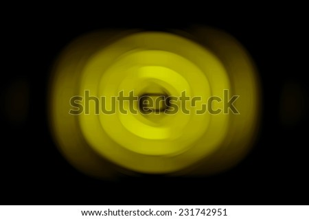 Abstract geometrical yellow background with lines and circles