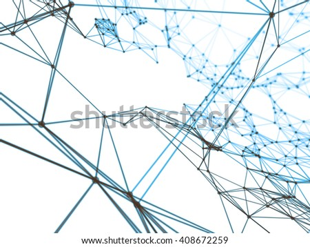 Abstract geometry surfaces, lines and points background, Used as digital wallpaper and technology background.