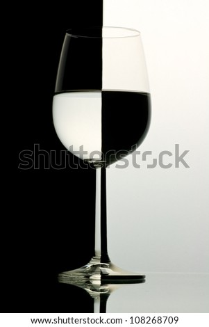 abstract glass - stock photo
