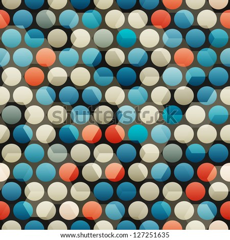 abstract glass blue circle seamless (raster version) - stock photo