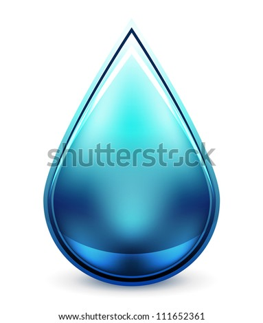 Abstract glass liquid icon. Raster version of my vector illustration - stock photo