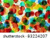 Abstract glass watercolor : drop colorful - stock photo