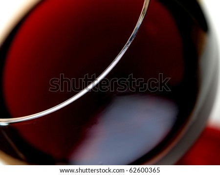 Abstract  glassware background design of close-up of a wine glass. - stock photo