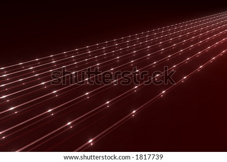 abstract glassy data pipelines with glowing spots - stock photo