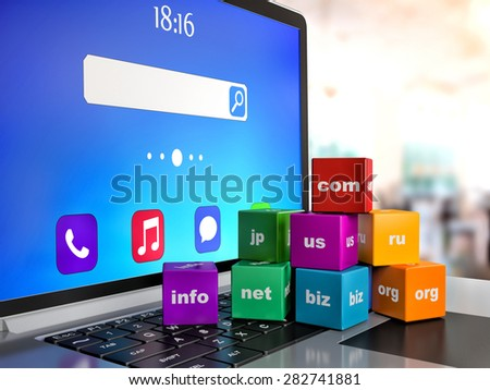 abstract global internet communication PC technology - stock photo