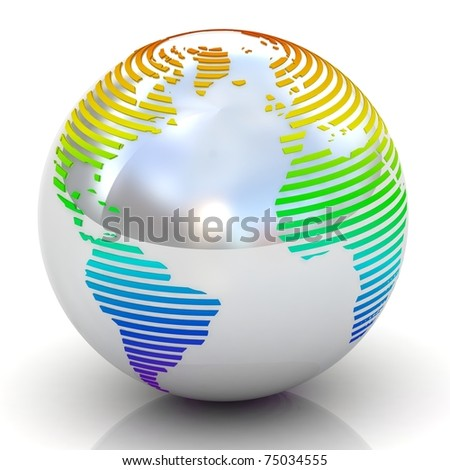 Abstract globe.