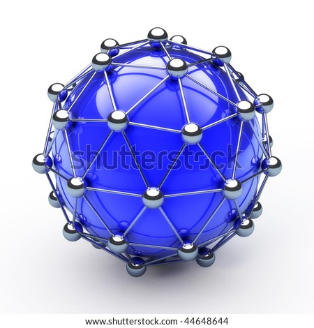 Abstract globe connection network - stock photo