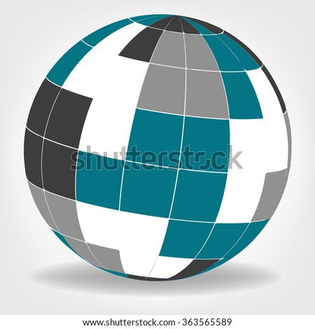 abstract globe - sphere - stock photo