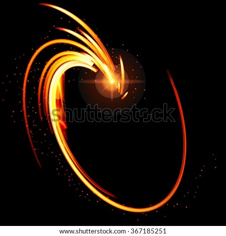 Abstract glow  background with fire shape. Raster version. - stock photo