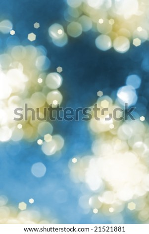 Abstract glow light background. Defocused shot of christmas ornament - stock photo