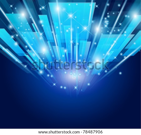 Abstract Glow of lights for Business or Corporate Flyers background. - stock photo