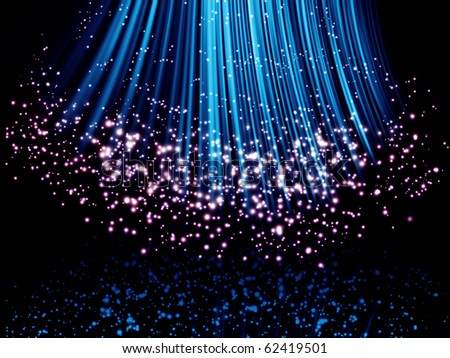 Abstract glowing background with stars - stock photo