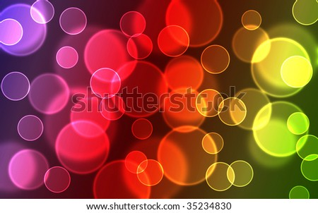 abstract glowing circles on a colorful background